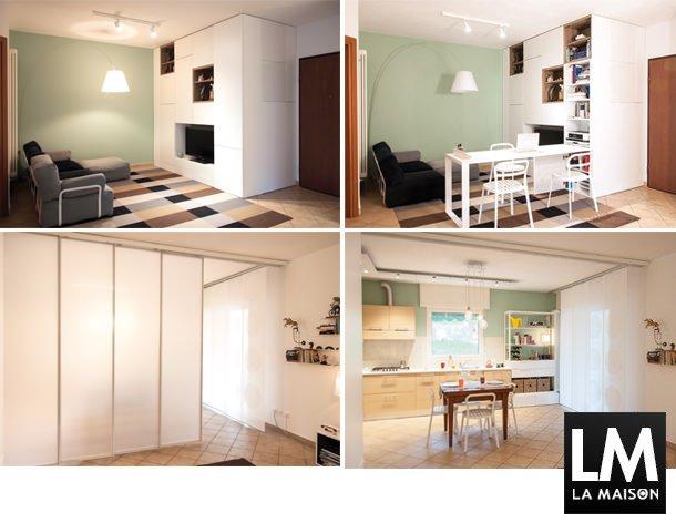 Parete Cucina Verde : Parete Cucina Verde : Architettura-soggiorno ...