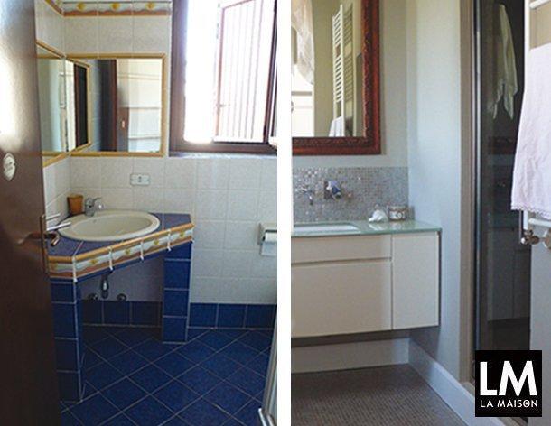 Ristrutturazione bagno rinnovare piastrelle e carta da - Dipingere piastrelle bagno ...