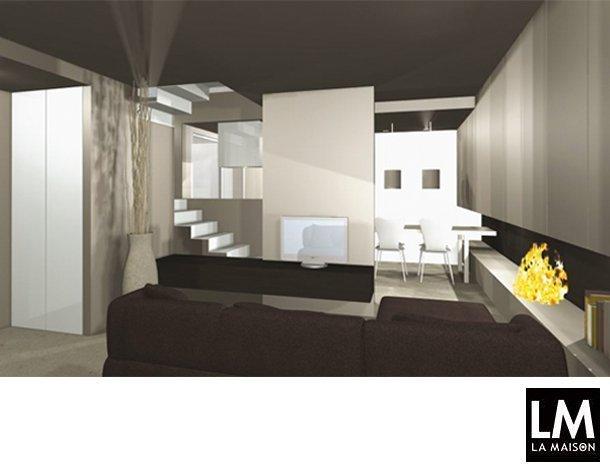 Soggiorno sottoscala arredamenti di design realizzati su - Scala soggiorno ...