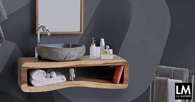 Arredare il bagno otto consolle la maison e lifestyle magazine - Lavandino in pietra bagno ...