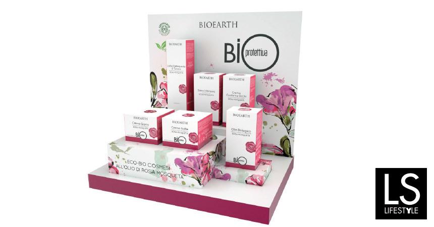 La linea viso Bioearth BIO ROSA MOSQUETA (Officina delle Erbe – San Marino)