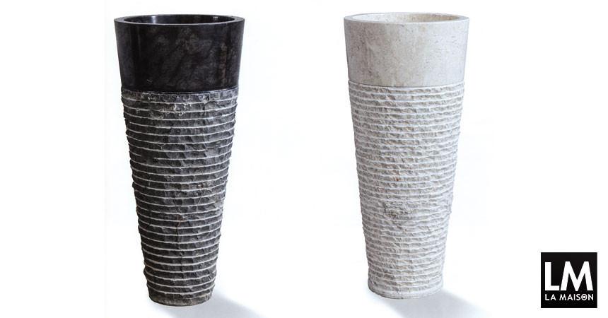 Collezione di lavandini da terra in marmo naturale. Pietra / Stone