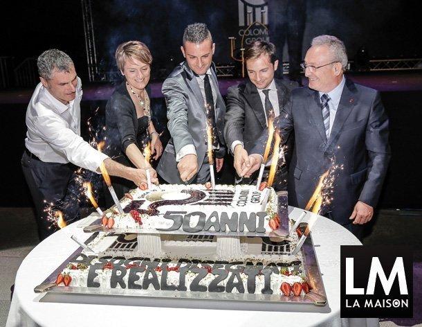 Colombini-Group-anniversario-50-anni-gala-torta-San-Marino-2015