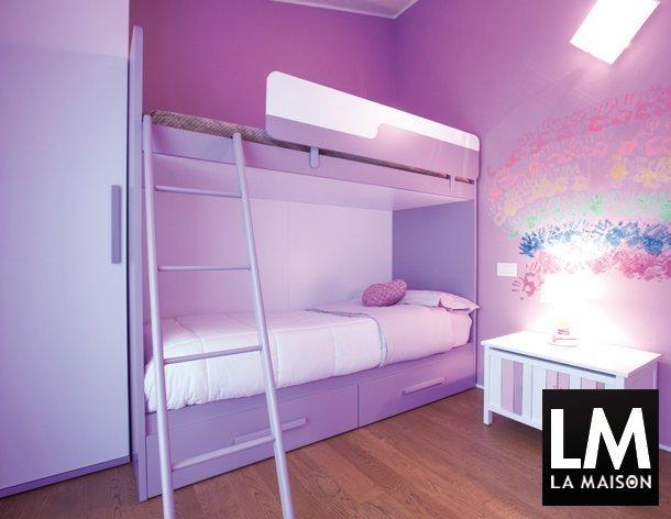 Camerette viola eresem camerette camere per bambini for Idee cameretta bimba