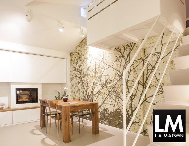 In casa di vittoria la maison e lifestyle magazine for Carta da parati per soggiorno moderno