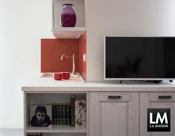 Cucina Rosso Mattone Sistema 901 : In casa di fulvia e theo la maison lifestyle magazine