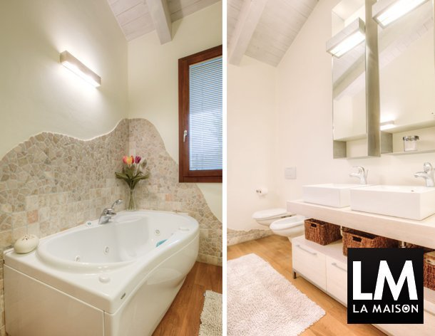 In casa di barbara e pietro la maison e lifestyle magazine - Arredo bagno con due lavelli ...