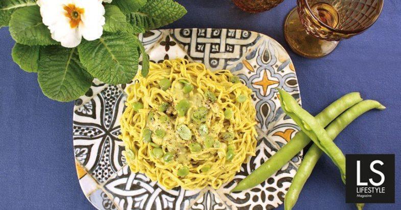 Ricetta: Stringhetti alla romana in salsa di fave e pecorino