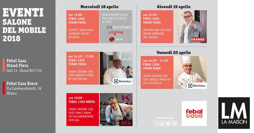 Febal Casa al Fuorisalone 2018 – live cooking con lo Chef ERNST KNAM