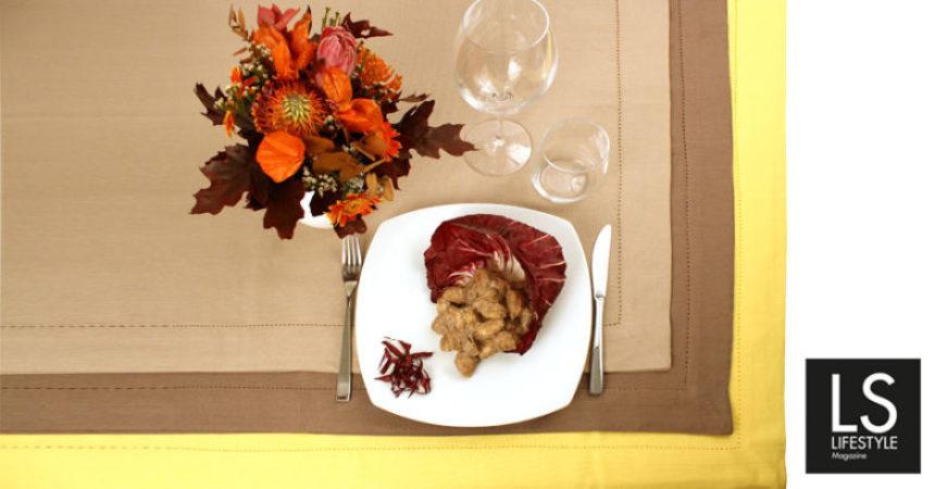 Ricetta. Gnocchi di patate al pesto di Radicchio di Chioggia e Mandorle.