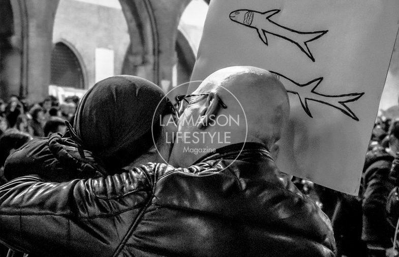 """Davide Arlotti. """"Come… sardine"""" – Reportage a Rimini, novembre 2019"""